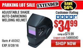 Adjustable Shade Auto-Darkening Welding Helmet