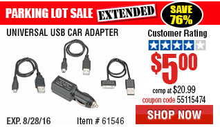 Universal USB Car Adapter