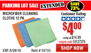 Microfiber Cleaning Cloths 12 Pk.