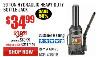 20 Ton Hydraulic Heavy Duty Bottle Jack