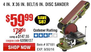 4 in. x 36 in. Belt/6 in. Disc Sander