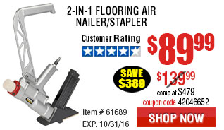 2-in-1 Flooring Air Nailer/Stapler