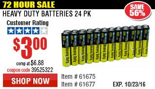 Heavy Duty Batteries 24 Pk
