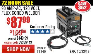 90 Amp-AC, 120 Volt, Flux Cored Welder