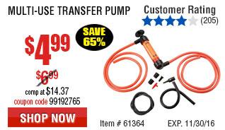 MULTI-USE TRANSFER PUMP