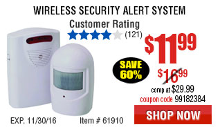 Wireless Security Alert System
