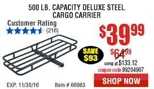 500 lb. Capacity Deluxe Steel Cargo Carrier