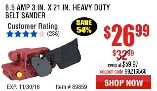 6.5 Amp 3 in. x 21 in. Heavy Duty Belt Sander