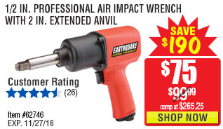 1/2 in. Professional Air Impact Wrench With 2 in. Extended Anvil