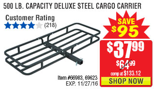 500 lb. Capacity Deluxe Steel Cargo Carrier