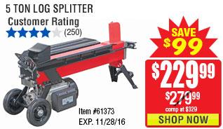 5 Ton Log Splitter