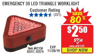Emergency 39 LED Triangle Worklight