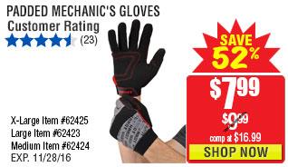 Large Padded Mechanic's Gloves