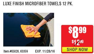 Luxe Finish Microfiber Towels 12 Pk.