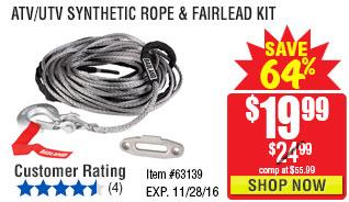 ATV/UTV Synthetic Rope & Fairlead Kit