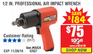 1/2 in. Professional Air Impact Wrench