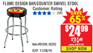 Flame Design Bar/Counter Swivel Stool