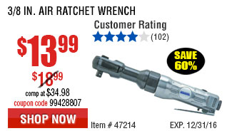 3/8 in. Air Ratchet Wrench