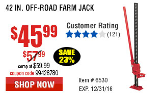 42 in. Off-Road Farm Jack