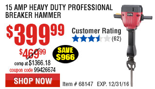 15 Amp Heavy Duty Professional Breaker Hammer
