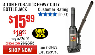 4 Ton Hydraulic Heavy Duty Bottle Jack