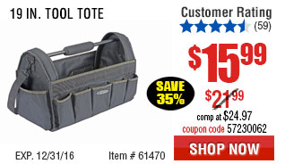 19 In. Tool Tote