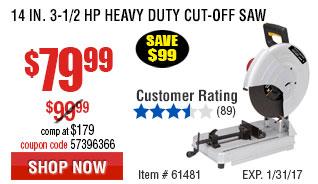 14 in. 3-1/2 HP Heavy Duty Cut-Off Saw