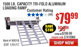 1500 lb. Capacity Tri-Fold Aluminum Loading Ramp