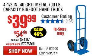 700 lb. Capacity Bigfoot Hand Truck