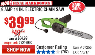 9 Amp 14 in. Electric Chain Saw