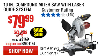 10 in. Compound Miter Saw with Laser Guide System