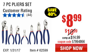 7 Pc Pliers Set