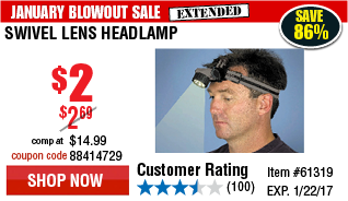 Swivel Lens Headlamp
