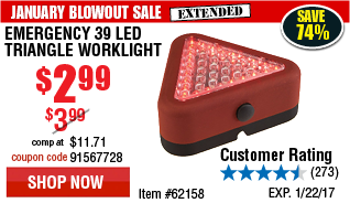 Emergency 39 LED Triangle Worklight