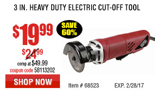 3 in. Heavy Duty Electric Cut-Off Tool