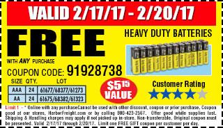 Free Heavy Duty Batteries