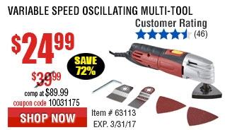 Variable Speed Oscillating Multi-Tool
