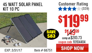 45 Watt Solar Panel Kit 10 Pc Kit