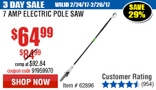7 Amp Electric Pole Saw