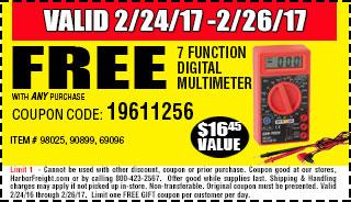 Free 7 Function Digital Multimeter