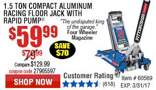 1.5 Ton Compact Aluminum Racing Floor Jack with Rapid Pump®