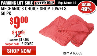 Mechanic's Choice Shop Towels 50 Pk.