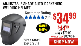 Adjustable Shade Auto-Darkening Welding Helmet