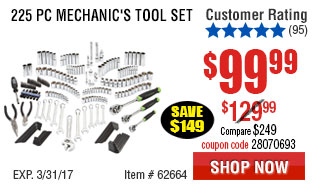 225 Pc Mechanic's Tool Set