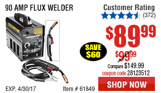 90 Amp Flux Welder