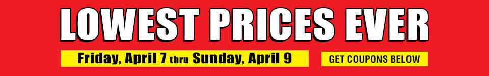 Lowest Prices Ever Sale