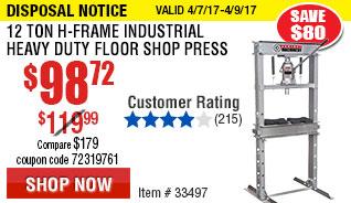 12 ton H-Frame Industrial Heavy Duty Floor Shop Press
