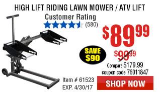 High Lift Riding Lawn Mower / ATV Lift