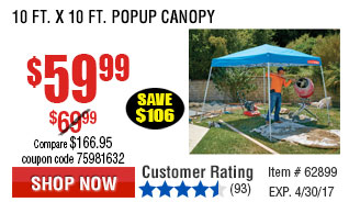 10 ft. x 10 ft. Popup Canopy