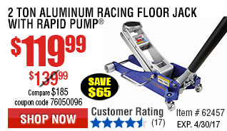 2 Ton Aluminum Racing Floor Jack with Rapid Pump